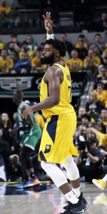 INDIANAPOLIS, IN - APRIL 19: Tyreke Evans #12 of the Indiana Pacers reacts during a game against the Boston Celtics during Round One Game Three of the 2019 NBA Playoffs on April 19, 2019 at Bankers Life Fieldhouse in Indianapolis, Indiana. NOTE TO USER: User expressly acknowledges and agrees that, by downloading and or using this Photograph, user is consenting to the terms and conditions of the Getty Images License Agreement. Mandatory Copyright Notice: Copyright 2019 NBAE (Photo by Ron Hoskins/NBAE via Getty Images)